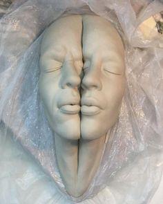 Bizarre porcelain sculpture (#WIP) by @johnson_tsang_artist. Johnson will be…
