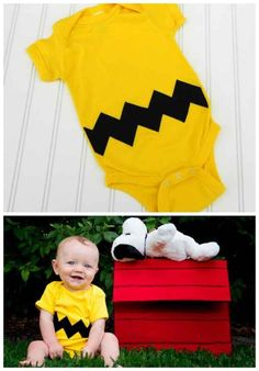 Charlie Brown | 36 Onesies For The Coolest Baby You Know. I wonder if I can DIY a Charlie Brown onesie.