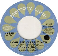 I Can See Clearly Now - Johnny Nash