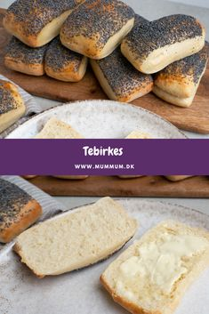 Bread Recipes, Baking Recipes, Cake Recipes, Danish Food, Bread Rolls, Cakes And More, Party Cakes, Bread Baking, Food And Drink
