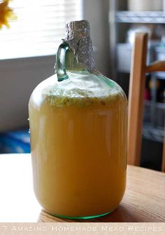 Mead or honey wine is the oldest alcoholic drinks known to man. It is made from honey and water via fermentation with yeast. It may be still, carbonated, or sparkling; it may be dry, semi-sweet, or sweet. Here are a bunch of recipes on how to make mead.