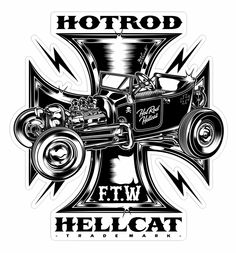 Hotrod Hellcat Designs - UK on Behance Hot Rods, Logos Vintage, Vintage Signs, Pinstriping, Ed Roth Art, Harley Davidson Night Rod, Wood Tattoo, Rockabilly Art, Cars Coloring Pages