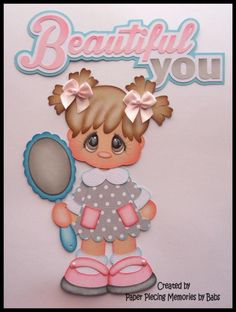 Beautiful Girl Set Premade Paper Piecing for Scrapbook Pages by Babs #Unbranded