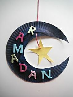 Lovely idea for a craft activity with young children. Perhaps following a story time explaining what Ramadan is and the role of the new moon in determining its start. http://acraftyarab.blogspot.com.au/2012/08/ramadan-moon-star.html