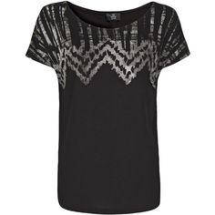 Ethnic Print T-Shirt ($32) ❤ liked on Polyvore