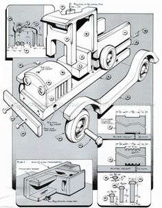 Wooden Toy Pickup Truck Plans