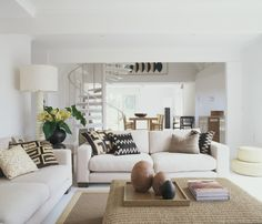 Portsea - Holiday home environment created with light fabrics and earthy toned accessories.