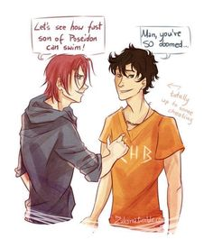Free X PJO crossover Rin and Percy <3