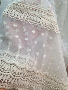 Cream Lace Fabric Wedding Lace Fabric French by lacetime on Etsy