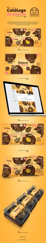 Campanha de páscoa desenvolvida para empresa Mina de Doçuras. Material para Mídias sociais e catálogo, projetado para ser utilizado tanto em versão online, atraves da plataformafacebook, quanto impresso.