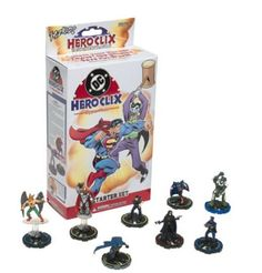 Hero Clix Starter Kit Game with DC Marvel Action Figures, Superman, Batman. #WizKids