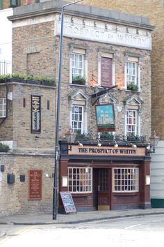 The Prospect of Whitby Pub, London. Oldest coach house on the Thames in existence.