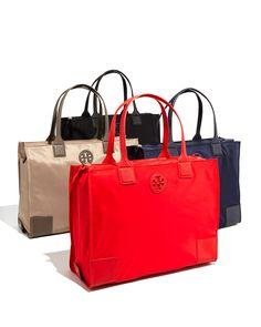 Tory Burch Ella Packable Nylon Tote Bag, Tory Navy
