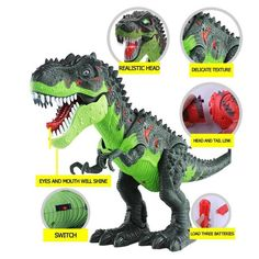 Electric Walking Dinosaur Toys with Music Light Spray Large Size Walk Sounds Animals Model Toys for Children Cartoon Dinosaur, Dinosaur Funny, Dinosaur Toys, Dinosaurs, Dinosaur Earrings, Largest Dinosaur, Dinosaur Pattern, Stress Toys, Light Music