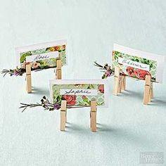 Ganz einfache und supersüße Idee - Platzkarten mit Wäscheklammern *** Quick & Easy DIY Clothespin Place Cards