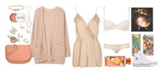 """""""Just peachy🍑"""" by freedom2095 ❤ liked on Polyvore featuring Topshop, Penny Preville, Miss Selfridge, Rifle Paper Co, MANGO, MICHAEL Michael Kors, Converse, Terre Mère and Jennie Kwon"""
