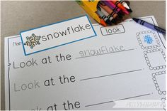 Miss Kindergarten {Winter Word Cards and building sentences}