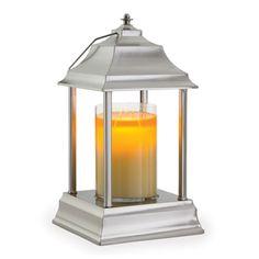 Brushed Nickel Carriage Candle Warmer Lantern