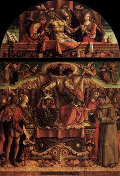 CRIVELLI, Carlo Coronation of the Virgin 1493 Tempera on panel, 225 x 255 cm Pinacoteca di Brera, Milan