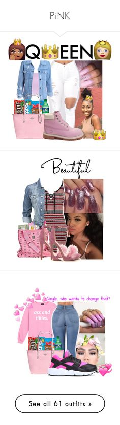 """""""PiNK"""" by badleaa on Polyvore featuring Timberland, Topshop, Modström, Handle, NIKE, Acne Studios, GET LOST, Retrò, adidas Originals and beauty"""