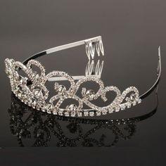 Butterfly Style Rhinestone Headband Crown