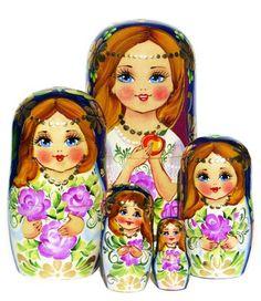 Girls 5 Piece Babushka Nesting Doll