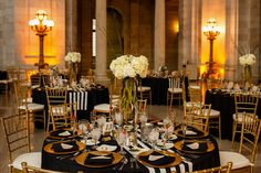Dining Table with Ivory Hydrangea Centerpiece
