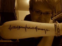 """""""This too shall pass"""" I love the heart monitor look mixed in with the words"""