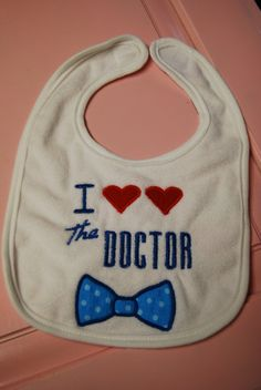 Doctor Who Baby Bib Embroidery/Applique Unique by emmyshaircandy, $8.00