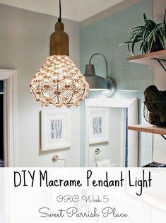DIY macrame pendant light