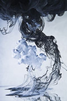 Ink,water, slow shutter speed, two colour mix.