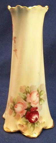 Antique Hand Painted Hat Pin Holder Pink Roses Porcelain Vintage Burgundy | eBay
