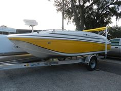 SunDeck Sport 188 Hurricane Deck Boat Yellow with Fishing Package - For Sale - Holiday Marine