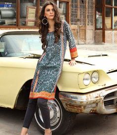 Kalyan embroidered kurtis summer collection 2015 ST-4B