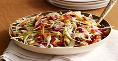 WW Cranberry-Apple Coleslaw-This is a Weight Watchers 2 PointsPlus+ per 3/4 cup recipe.  Great summer side!