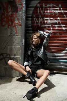 Anja Rubik for BLK DNM