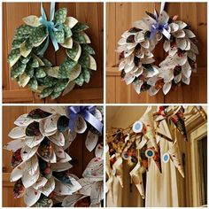 paper wreathes