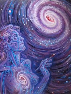 We are divine, eternal, infinite beings, 'rays of the One Sun', shining beyond all we see. ♥ ~ Art by: Alex Grey