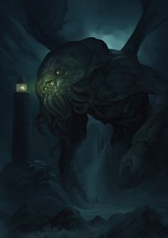 /o/-\o\ Cthulhu Mythos. Dmitry Kalinichenko /o/-\o Cthulhu Mythos, Cthulhu Art, Lovecraft Cthulhu, Call Of Cthulhu, Cthulhu Tattoo, Hp Lovecraft, Arte Horror, Horror Art, Fantasy Creatures