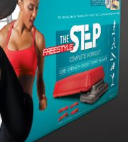 Packaging for The Step fitness product.