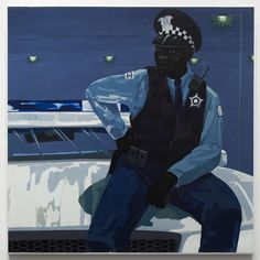 Kerry James Marshall Untitled (policeman) 2015