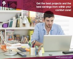 Find projects that are within the scope of your comfort zone of skills. This way you get the best platform to showcase your skills and the client gets the best work done on their project!  http://www.nextfreelancer.com/  #ComingSoon