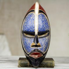 Novica Handcrafted African Wood 'Zulu ' Mask                                                                                                                                                                                 Más