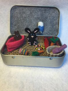 Itty Bitty Maties Rabbit My whole life in a tin by MatiesMeadow
