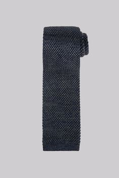 Hardy Amies Navy Marl Knit Tie Exude confidence with this navy knit tie. Boring boardroom this is not. Made from pure silk with a rich, deep blue tone, this marl knit tie from Hardy Amies will quickly become a staple in your suitin http://www.MightGet.com/january-2017-12/hardy-amies-navy-marl-knit-tie.asp