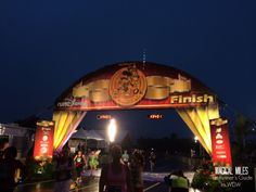 Finish line of the inaugural runDisney Walt Disney World 10K http://www.runnersguidetowdw.com/
