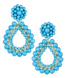ff42f83d6 Shop Cameran Eubanks Southern Charm Margo Lisi Lerch Turquoise Earrings at  HAUTEheadquarters.com- Lisi
