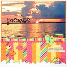 Doodlebug Design Inc Blog: Sunkissed Paradise Layout by Kathy Skou