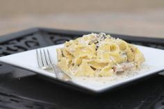 Mushroom Tagliatelle with Asiago and Thyme