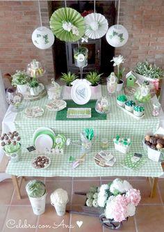 Candy bar mesa de chuches inspiraci n tropical verano - Decoracion fiesta jardin ...